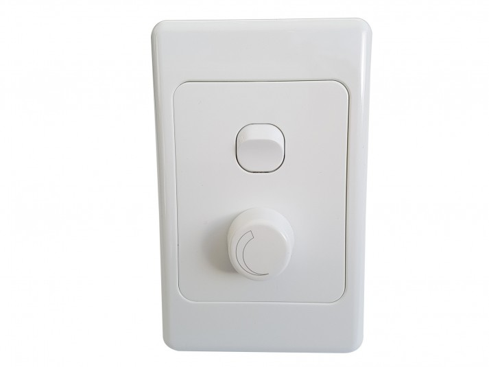 LED Dimmer Switch White Vertical
