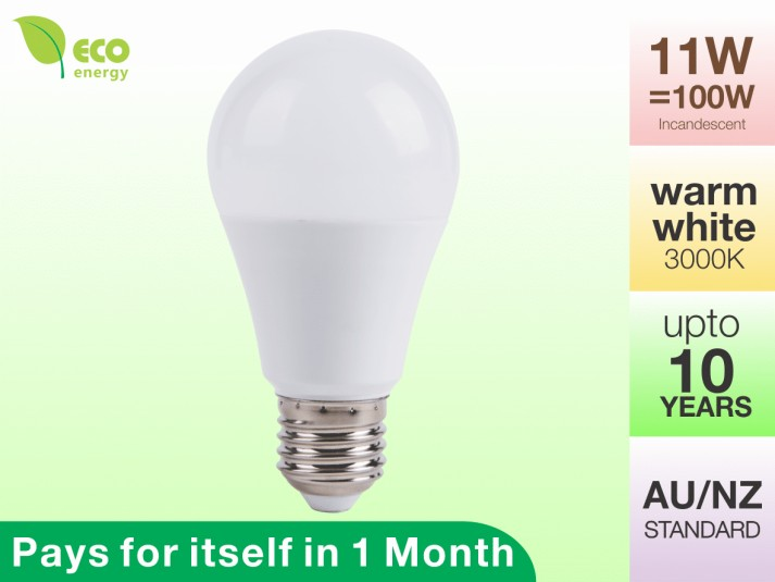 LED Light Bulb E27 11W Warm White 3000K 1020lm