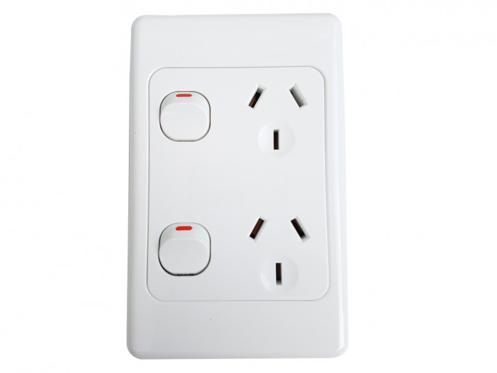 Double Vertical Power Point White