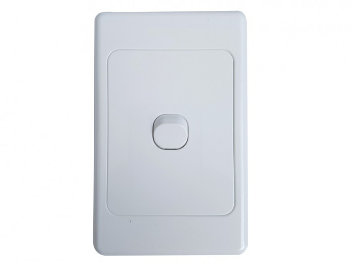 Single Vertical Light Switch White