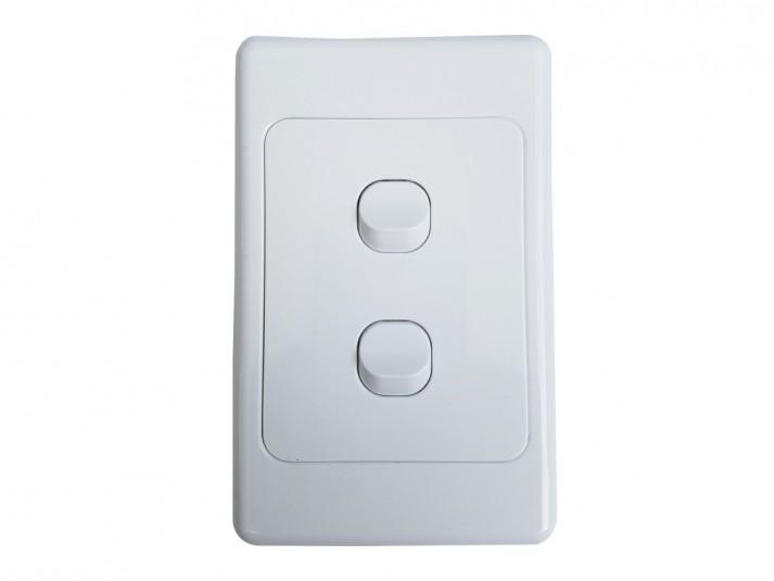 Single Vertical Light Switch White
